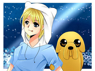 Adventure Time : Finn and Jake by ming-zi