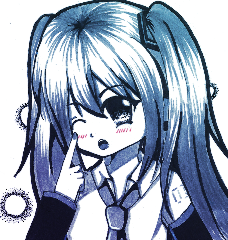 Doodle : Miku by ming-zi
