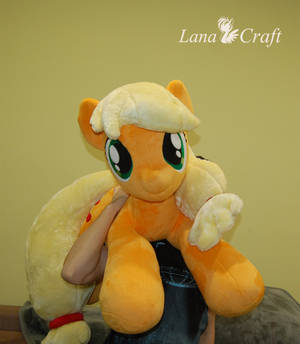 Applejack BIG plushie [ mlp handmade beanie ] by LanaCraft