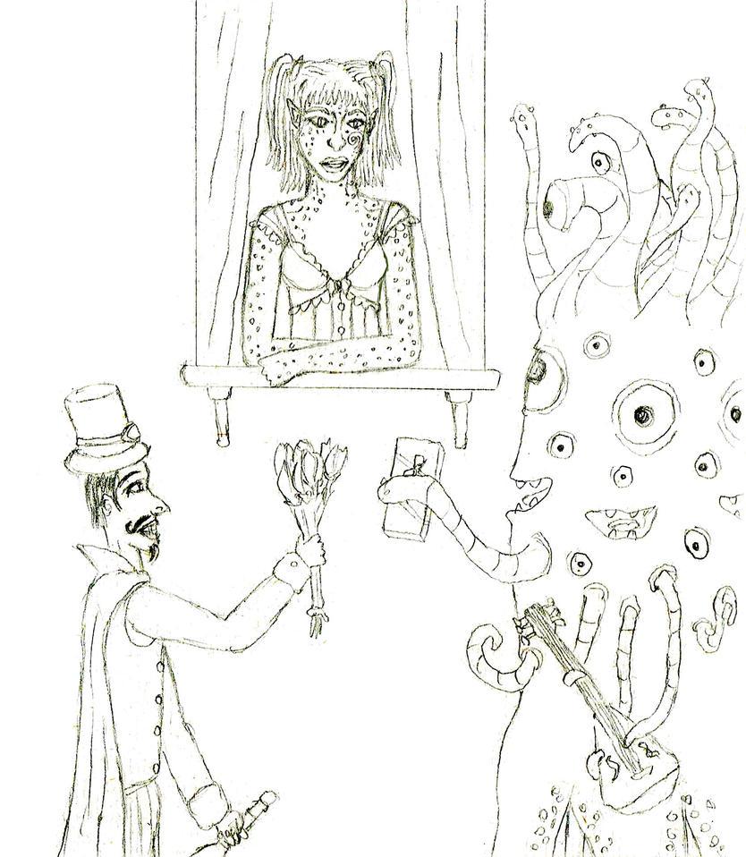 Kesslaira's Suitors by AvengingKobold