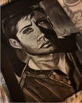Dean Winchester - Black Paper Portrait. by Laurenthebumblebee