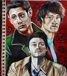 Team Free Will - Supernatural - Traditional art by Laurenthebumblebee