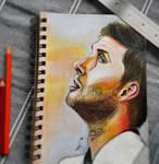 Jensen Ackles - Traditional portrait. by Laurenthebumblebee