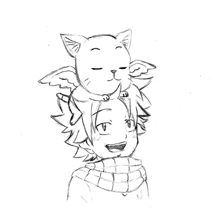 how to draw baby happy from fairy tail