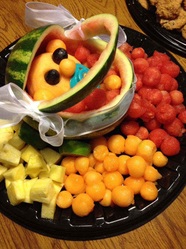 Baby shower fruit tray by jofflin