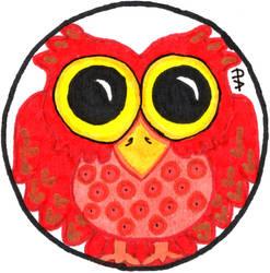 Red Round Owl