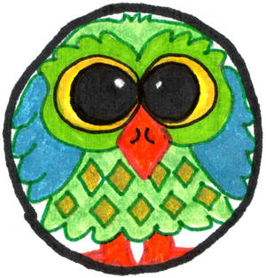 Confused Green Owl Round