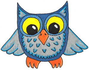 Silver-Blue Owl