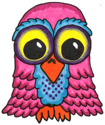 Pink Frilly Owl