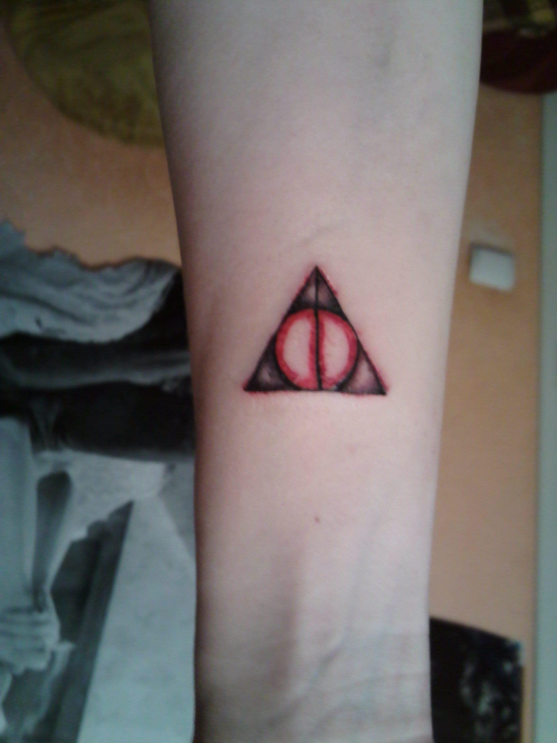 Deathly Hallows tattoo by diiwaanc