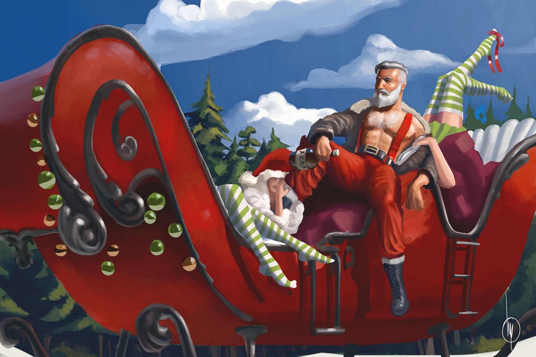 Santa on the break. by Voi-Tech