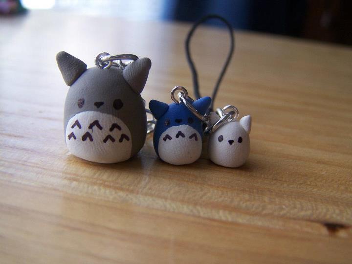 Totoro Phone Charms by plushpuddi