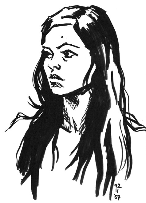 Life drawing with brushpen by thecory on deviantart for Basic portrait painting
