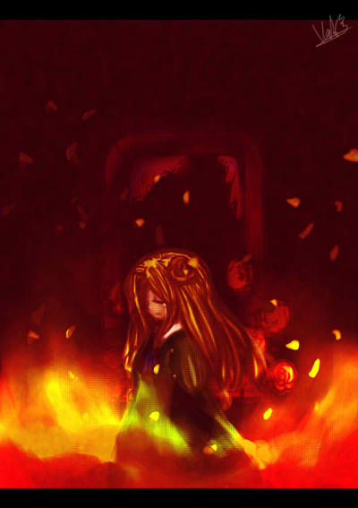 Ib- Mary_Together with my loneliness, Burn me by ReenaCat