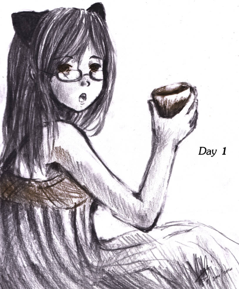 Day 1- Breakfast by ReenaCat