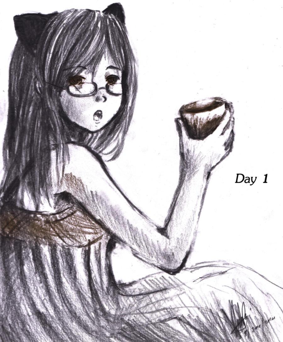 Day 1- Breakfast by ReenaCat
