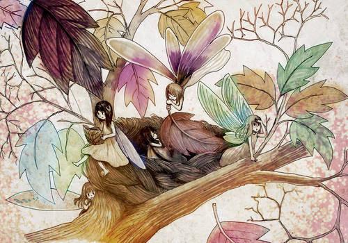 Autumn Fairies -Art Trade-