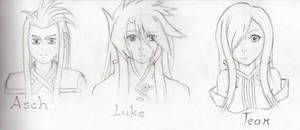 WIP: Tales Of The Abyss Sketches