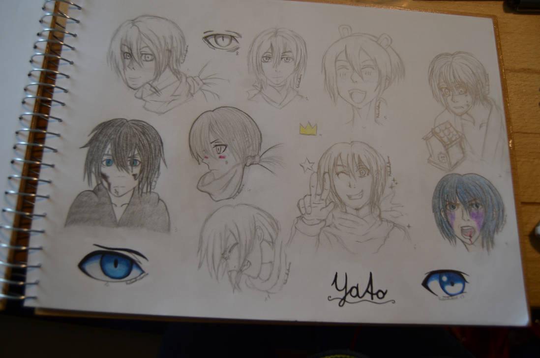 Yato Sketchbookpage by RubintheHorse