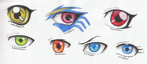 Eyes Aquarell Drawings