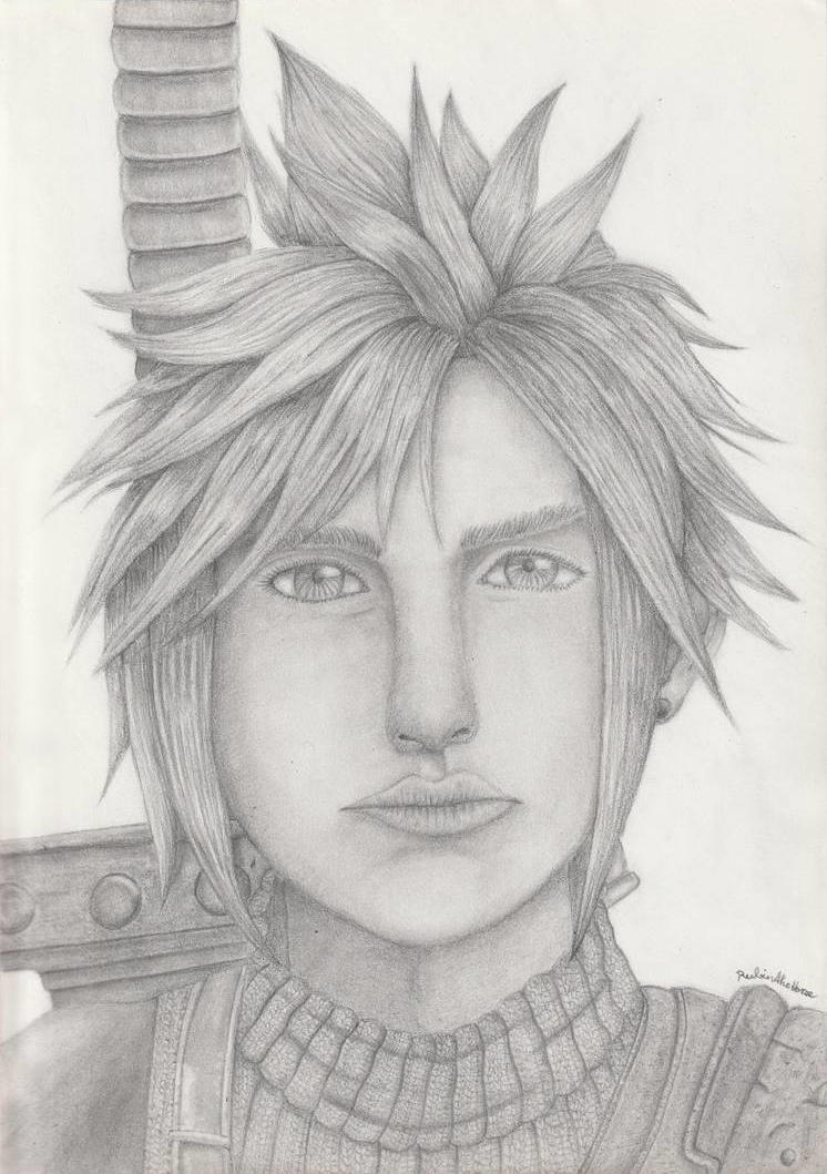 Cloud Strife Pencil Drawing