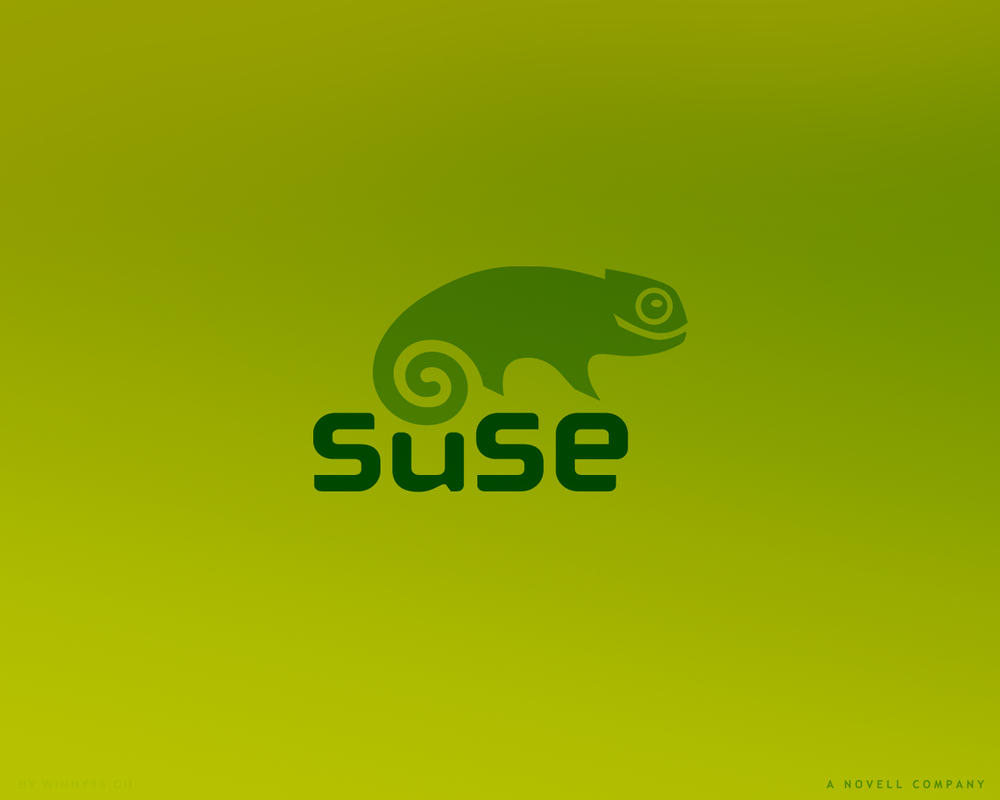 SuSE Linux 1280x1024 Green by Winny-Wallpapers