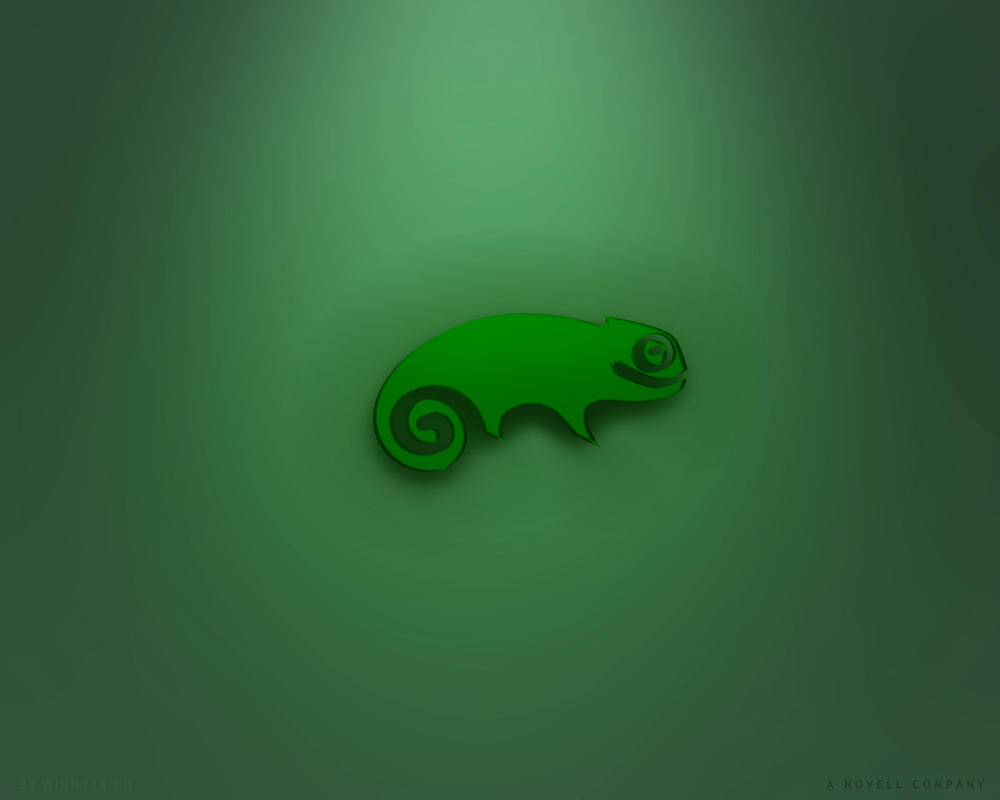 SuSE Linux 1280x1024 Dark by Winny-Wallpapers