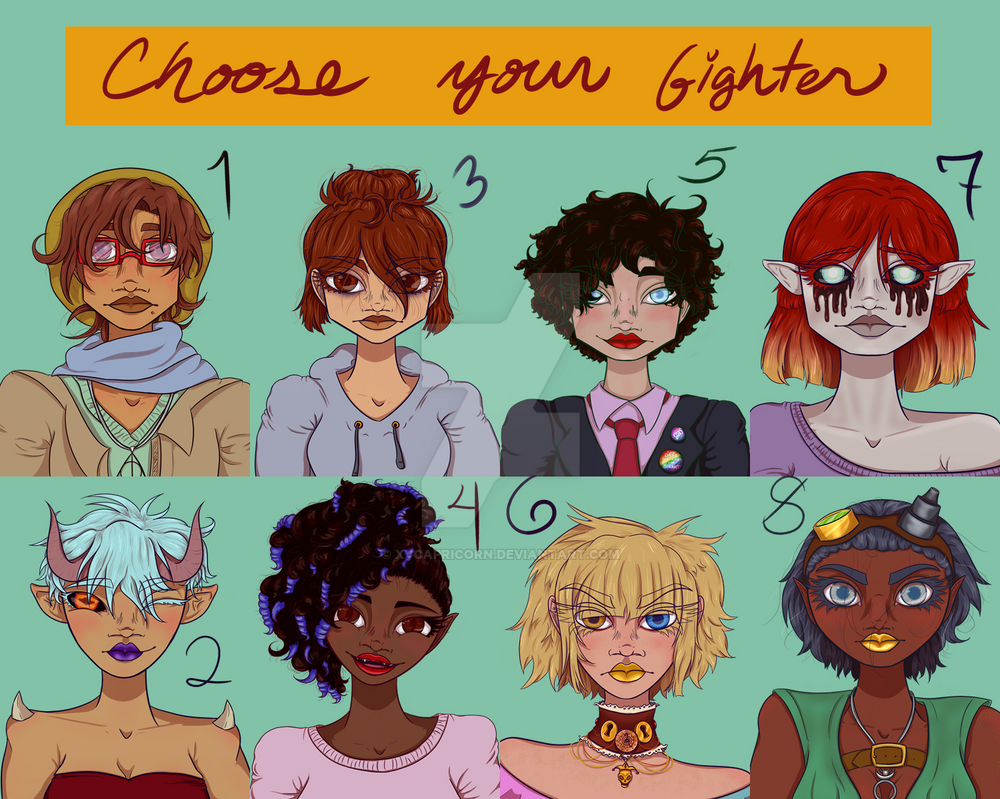 Choose Your Fighter by xvcapricorn