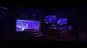Cyberpunk Room Concept Art