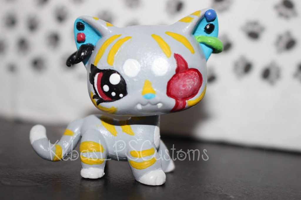 lps custom evangeline littlest pet shop short hair by