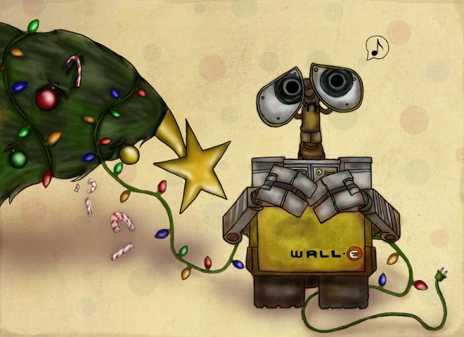 WALL-E Xmas - Secret Santa by slushiesushi