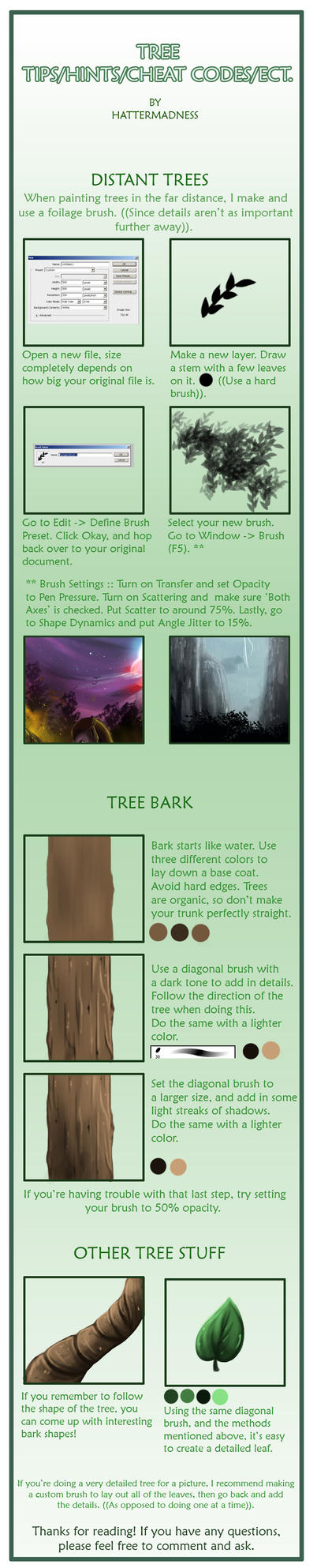 Tree Hints/Tips by HatterMadness