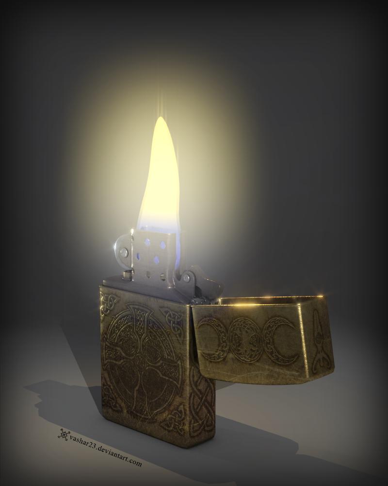 Celtic Zippo Lighter by Vashar23