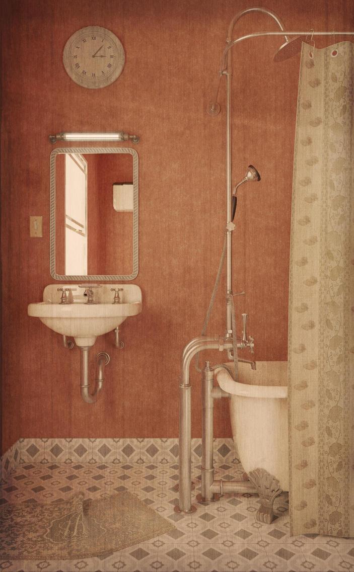 Vintage Bathroom by Vashar23