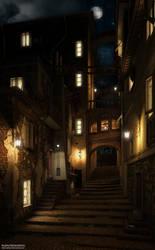 Rampa delle Lavandaie - notte