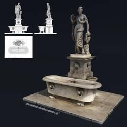 Naiade Fountain Statue - Lucca