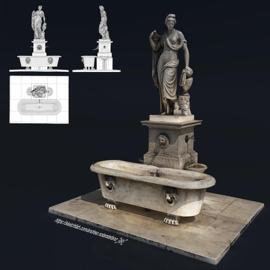 Naiade Fountain Statue - Lucca by Vashar23