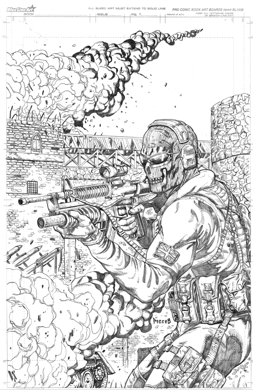 Coloring Pages Of Advanced Warfare : Ghost from cod mw by danielpicciotto on deviantart