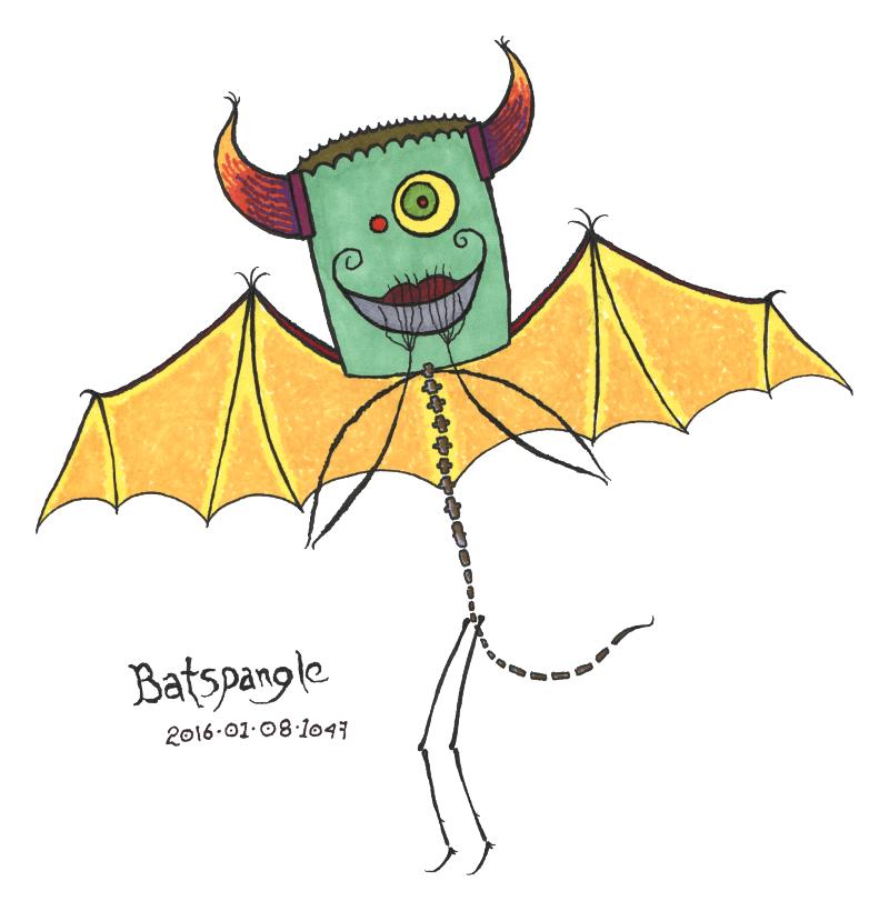everyween:2016-01-08 batspangle by organism