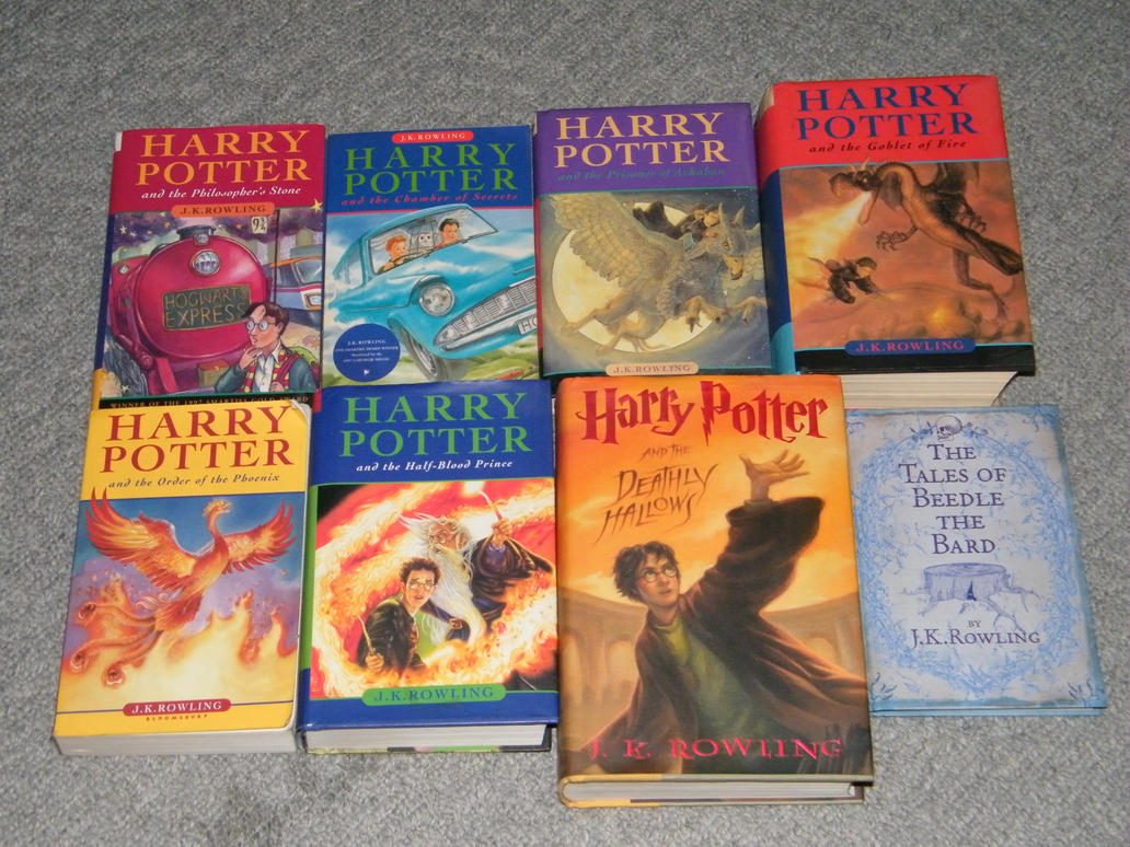Harry Potter Book Collection ~ Harry potter book collection by aarion on deviantart