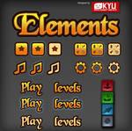 Elemenrs Ui game art by pixelartkid