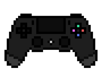Ps4 Controller Png Ps4 Controller Pixel Art by
