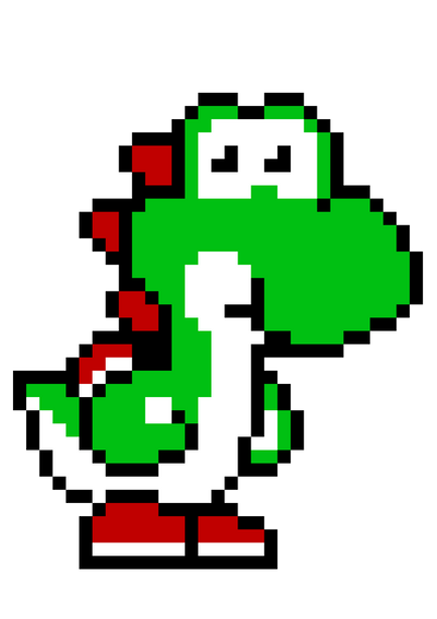 Yoshi - Pixel art by amaniness on DeviantArt