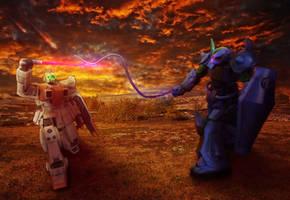 GM Ground Type vs Gouf by Rainbow-Mirage