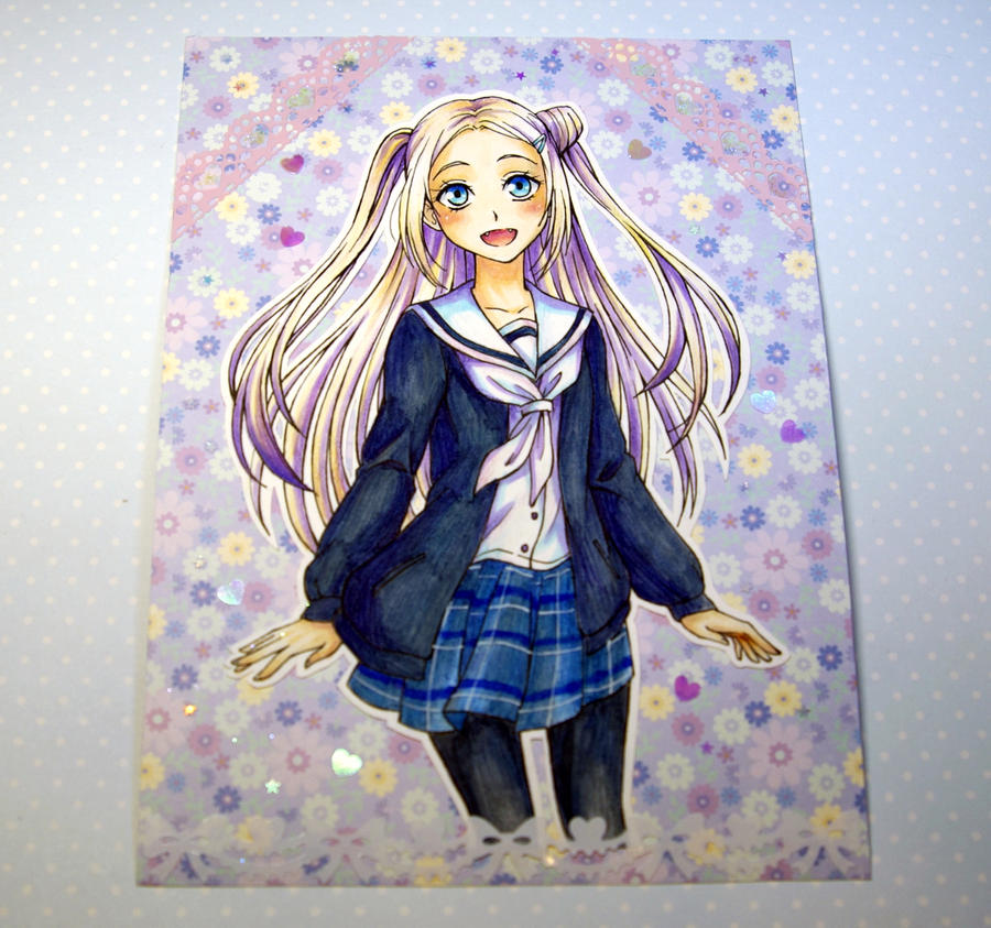Hanayamata - comission card by burburart