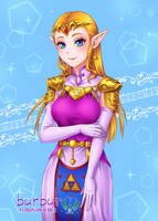 Princess Zelda SFW ver. by burburart