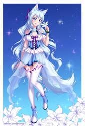 Lily kitsune by burburart