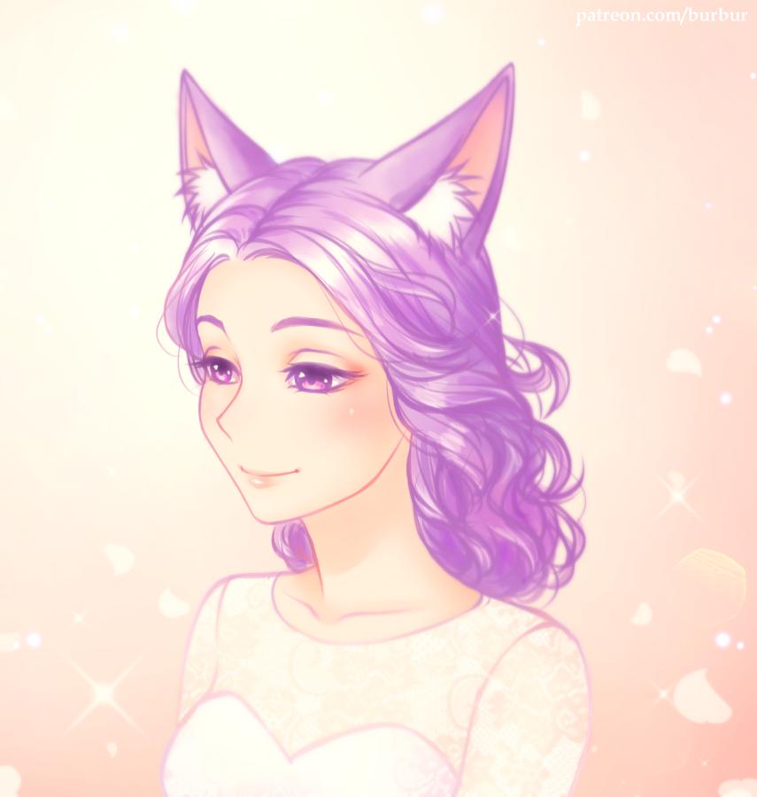 Fox Bride by burburart