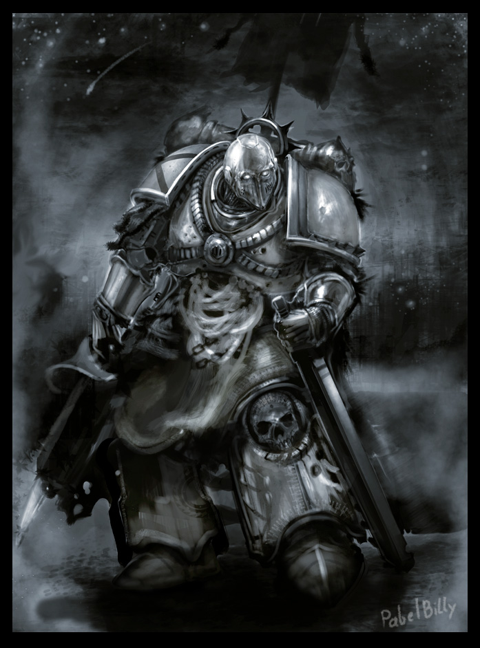 space marine art book