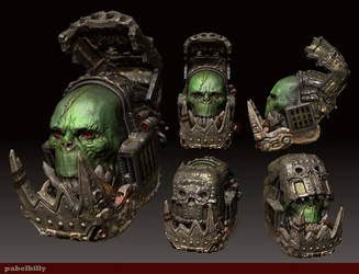 3d Veteran  ork in colour by PabelBilly